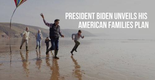 Family Running on Beach with Kite   President Biden Unveils His American Families Plan